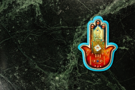 A Hamsa on a 'universe' backround Stock Photo - 18388985