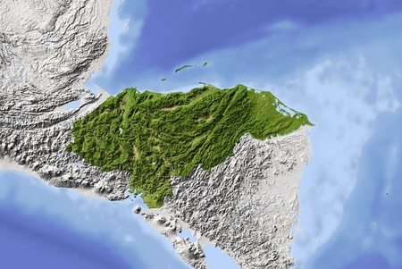 bathymetry: Honduras.