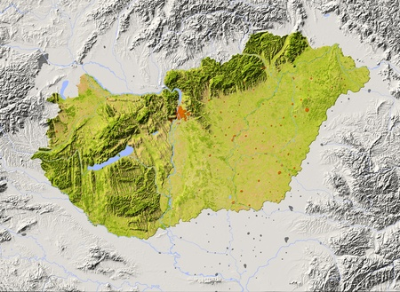 relief maps: Hungary.