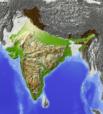 map of india: India.