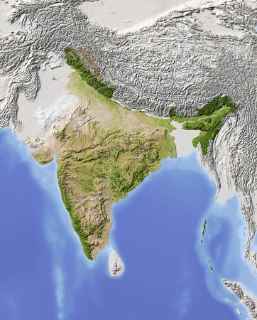 map of india: India.  Stock Photo