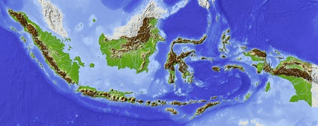relief maps: Indonesia.