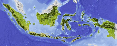 relief maps: Indonesia