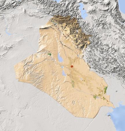 relief maps: Iraq.  Stock Photo