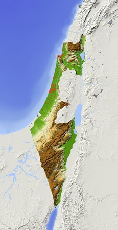 Israel, without West Bank. Imagens - 10898903
