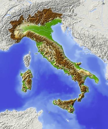 topography: Italy.