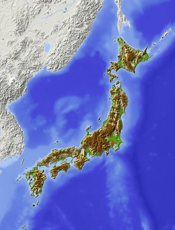 topography: Japan.  Stock Photo