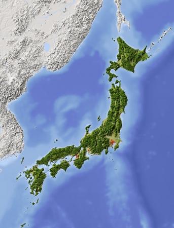 topographic: Japan.