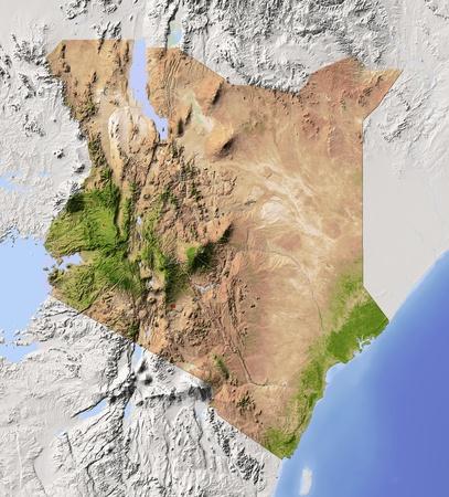 relief maps: Kenya.   Stock Photo
