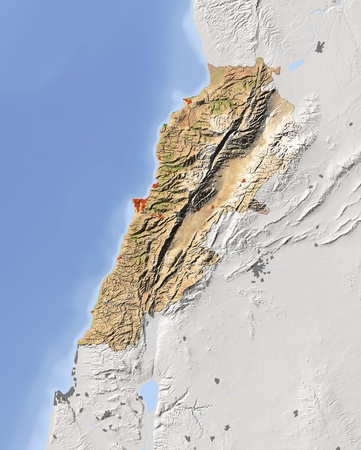 physical geography: Lebanon.
