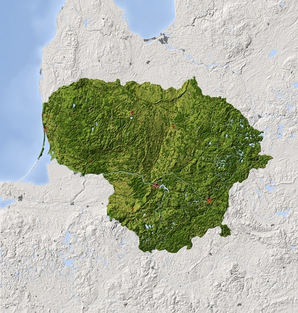 relief maps: Lithuania.