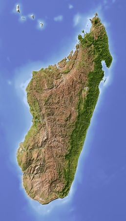 topographic map: Madagascar.