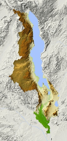 relief maps: Malawi.