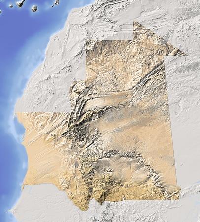 relief maps: Mauritania.