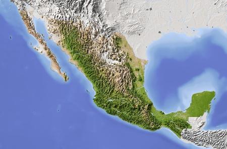 relief maps: Mexico.