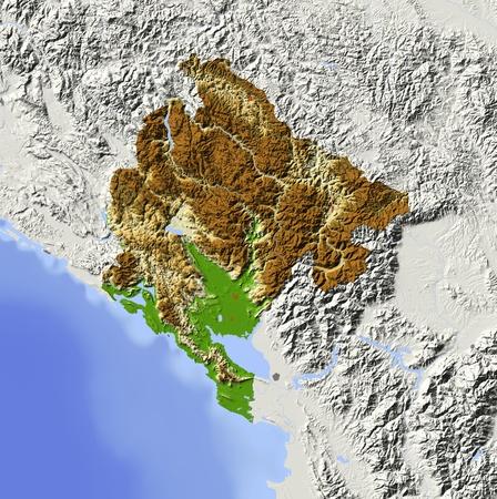 relief maps: Montenegro.