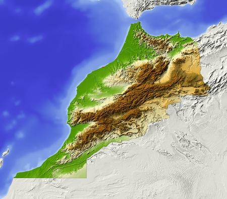 bathymetry: Morocco.  Stock Photo
