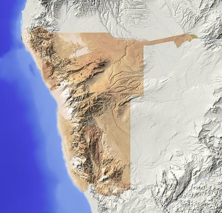 bathymetry: Namibia.