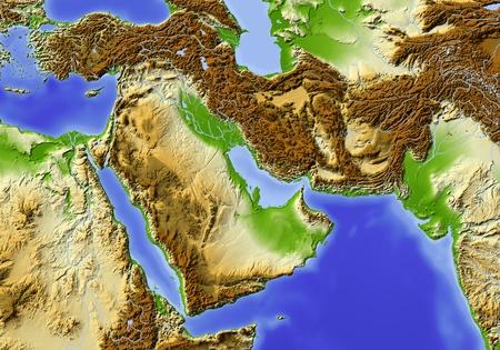 Near East from Egypt to Pakistan.   Standard-Bild