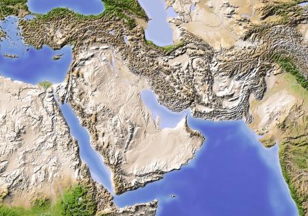 Proche-Orient de l'Egypte au Pakistan. Banque d'images