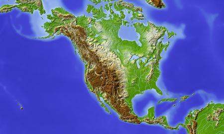 Mapa En Relieve De América Del Norte Fotos Retratos Imágenes Y Fotografía De Archivo Libres De Derecho Image 64383836