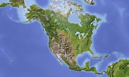 North and Central America.  Standard-Bild