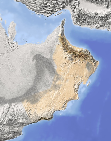 relief maps: Oman.