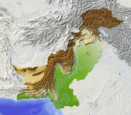 relief maps: Pakistan.