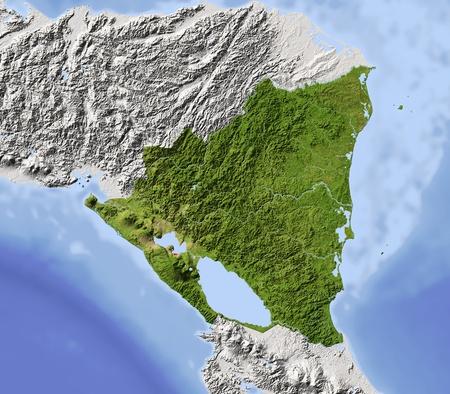 bathymetry: Nicaragua.