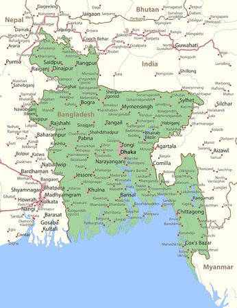 Map Of Bangladesh Stock Photos And Images - 123RF