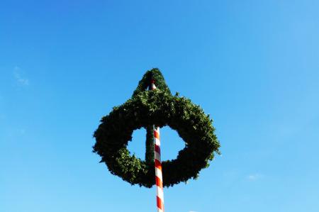 maypole: maypole in Bavaria Stock Photo