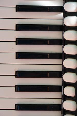 acordeón: Acordeón Keys Foto de archivo