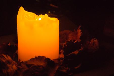 orange candle light