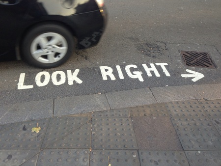 look right: Look Right Stock Photo