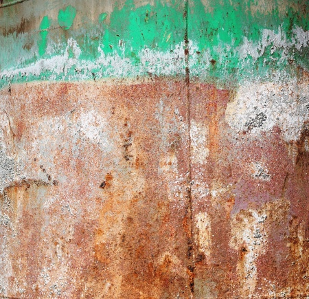 corroded: Texture of a vivid grungy rusty corroded metal surface with green paint