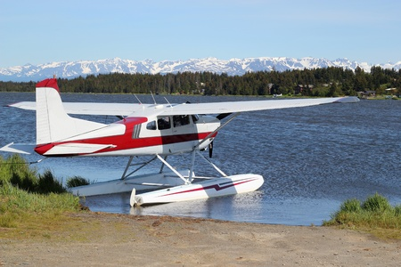 Floatplane on Beluga Lake Stock Photo - 9779339