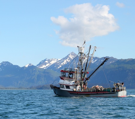 Classic Alaskan commercial fishing boat  photo