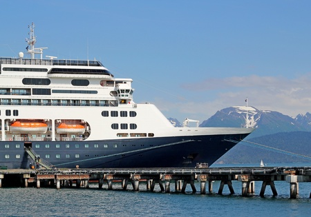 Cruise ship at the dock in Homer, Alaska
