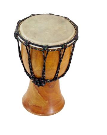 Wooden dumbek drum, isolated