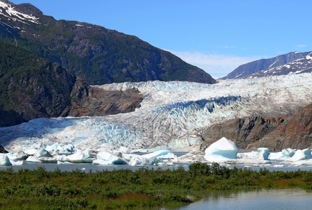 Mendenhall glacier outside of Juneau Alaska