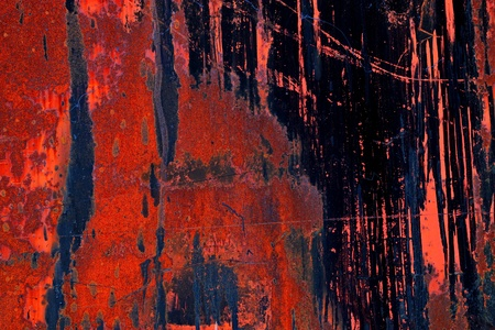 metal textures: Industrial textures with paint on rusted metal. Stock Photo
