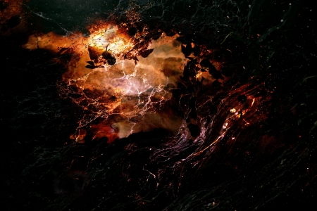 Abstract created by combining photos of natural elements with a glow of light and mysterious look. 版權商用圖片