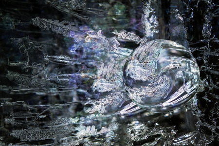 photomanipulation: Magical ice sphere created with photomanipulation.