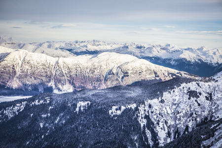 southeast alaska: Mountains of Southeast Alaska near Haines from the air in winter.