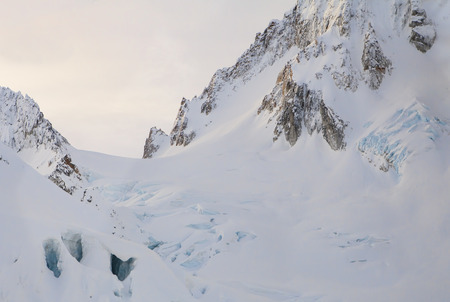 southeast alaska: Snow and ice on Cathedral Peaks near Haines in Southeast Alaska in winter.