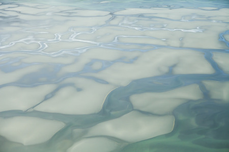 southeast alaska: Patterns formed by the Chilkat River in Southeast Alaska as seen from the air.