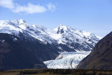 Davidson Glacier near Glacier Point in Southeast Alaska in spring.
