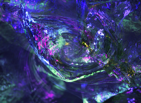 photomanipulation: Colorful ice abstract created with photomanipulation.