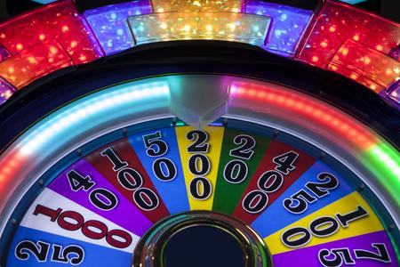 reno: Close up of a colorful gambling slot machine in Nevada. Stock Photo