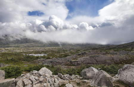 Clouds moving in near White Pass on the Alaskan Canadian border in summer.